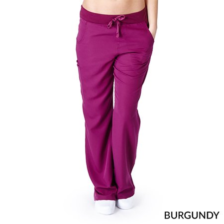 Ultra Soft Women's Flare Cargo Scrub Pant, Style (Everyday Ladies Flare Scrub Pant)