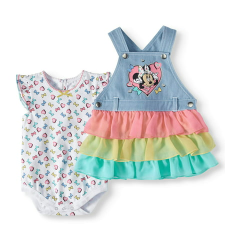Baby Girls' Bodysuit and Skirtall, 2-Piece Outfit Set