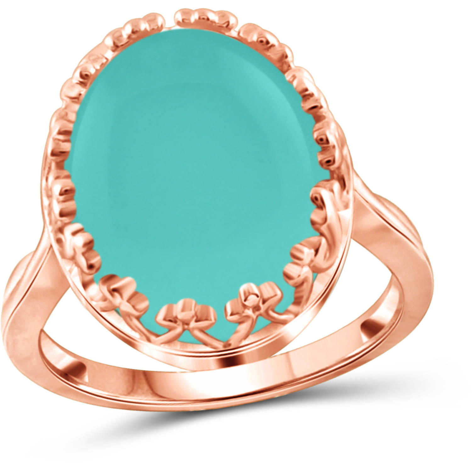 JewelersClub 9-3 4 Carat T.G.W. Chalcedony Rose Gold over Silver Fashion Ring by JewelersClub