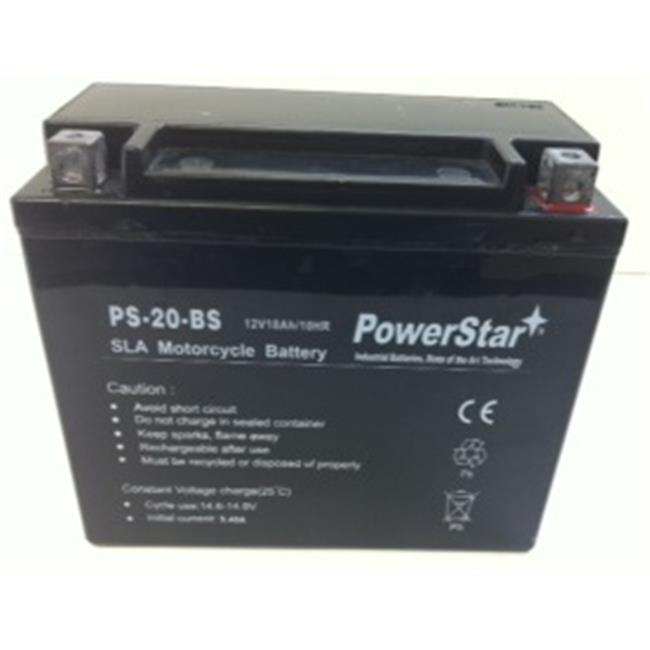 PowerStar PS-20-BS-02 Ytx20-Bs High Performance Agm Motorcycle Battery