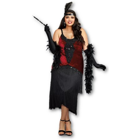499031295491 Dreamgirl Million Dollar Baby Women's Costume Great Gatsby Deluxe Flapper  1x-3x - image 1 ...