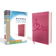 Niv, Bible for Kids, Leathersoft, Pink, Red Letter Edition, Comfort Print: Thinline Edition