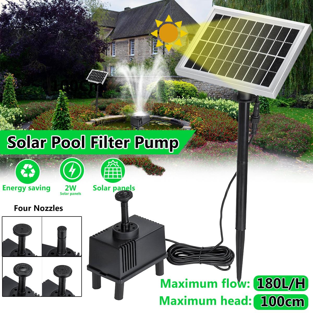 Garden Patio 180L//H Solar Fountain Pump Kit Water Pump Pond with Sponge Filter