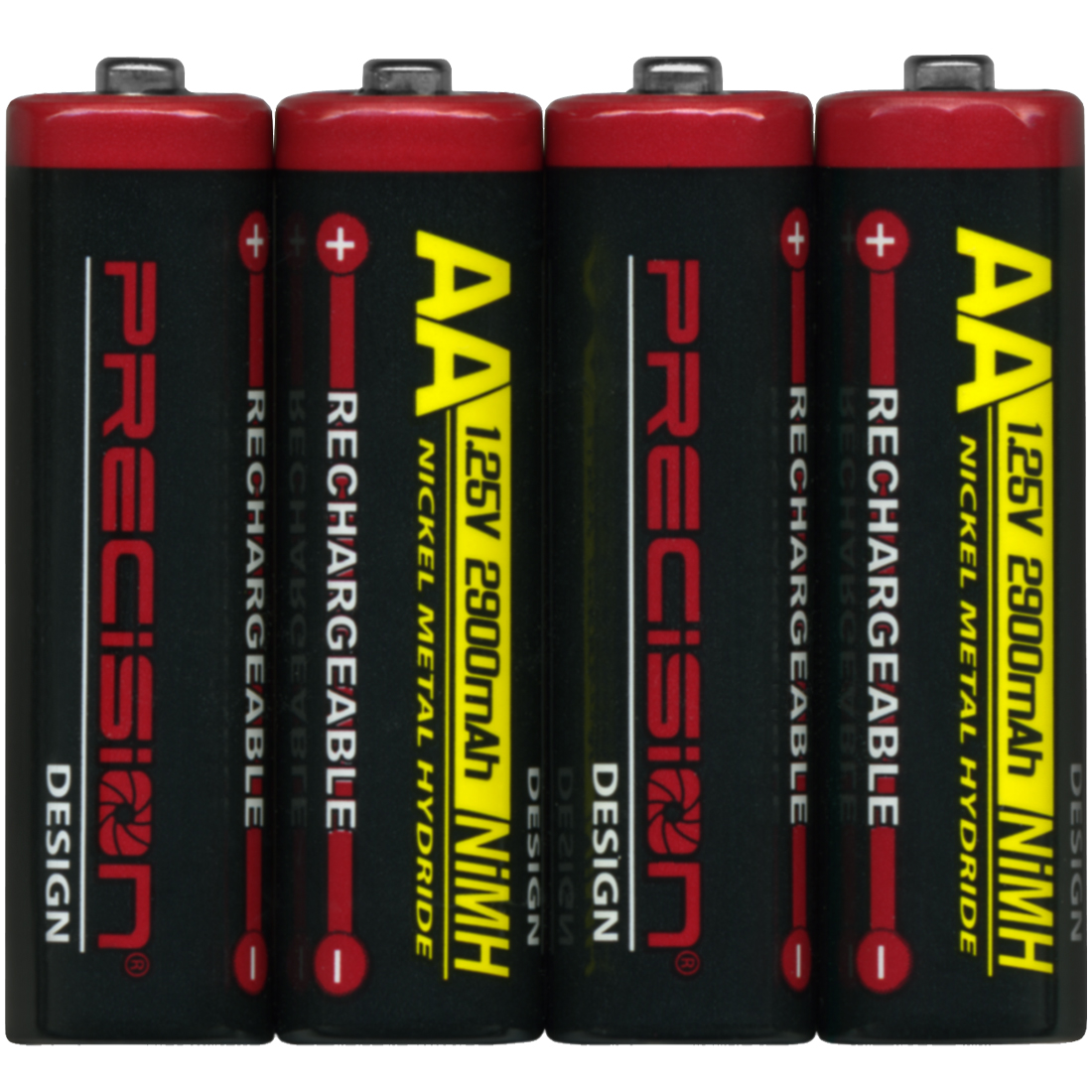 Precision Design (4 Pack) 2900mAh AA NiMH Rechargeable Batteries