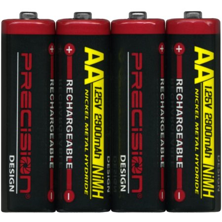 Precision Design (4 Pack) 2900mAh AA NiMH Rechargeable Batteries Digital Cameras Using Aa Batteries