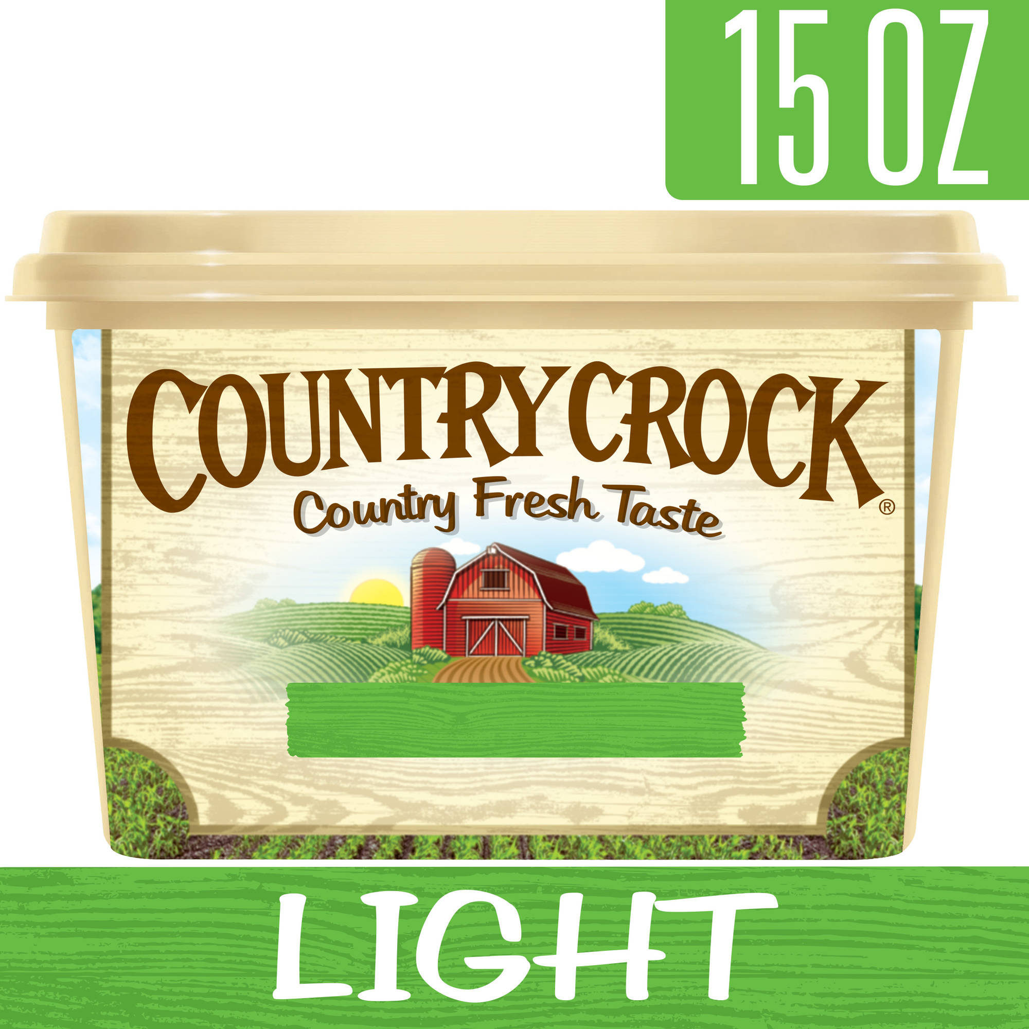 Country Crock Light Vegetable Oil Spread Tub, 15 oz