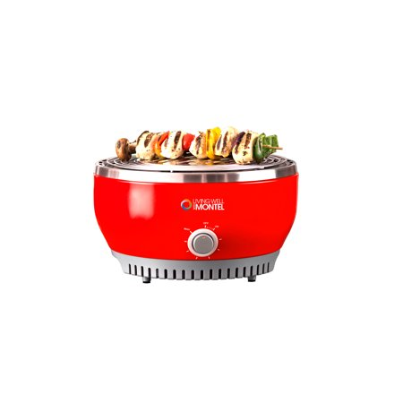 Living Well With Montel MWSG01 Smokeless Indoor Barbeque Grill, Red ()