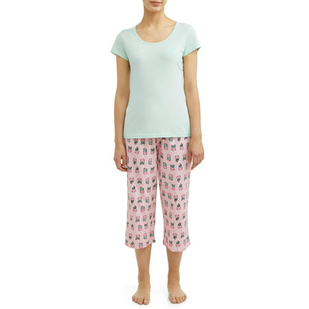 JV Apparel Women's and Women's Plus Knit 2-Piece Sleep Set with Embroidery](Plus Size Onesies For Adults)