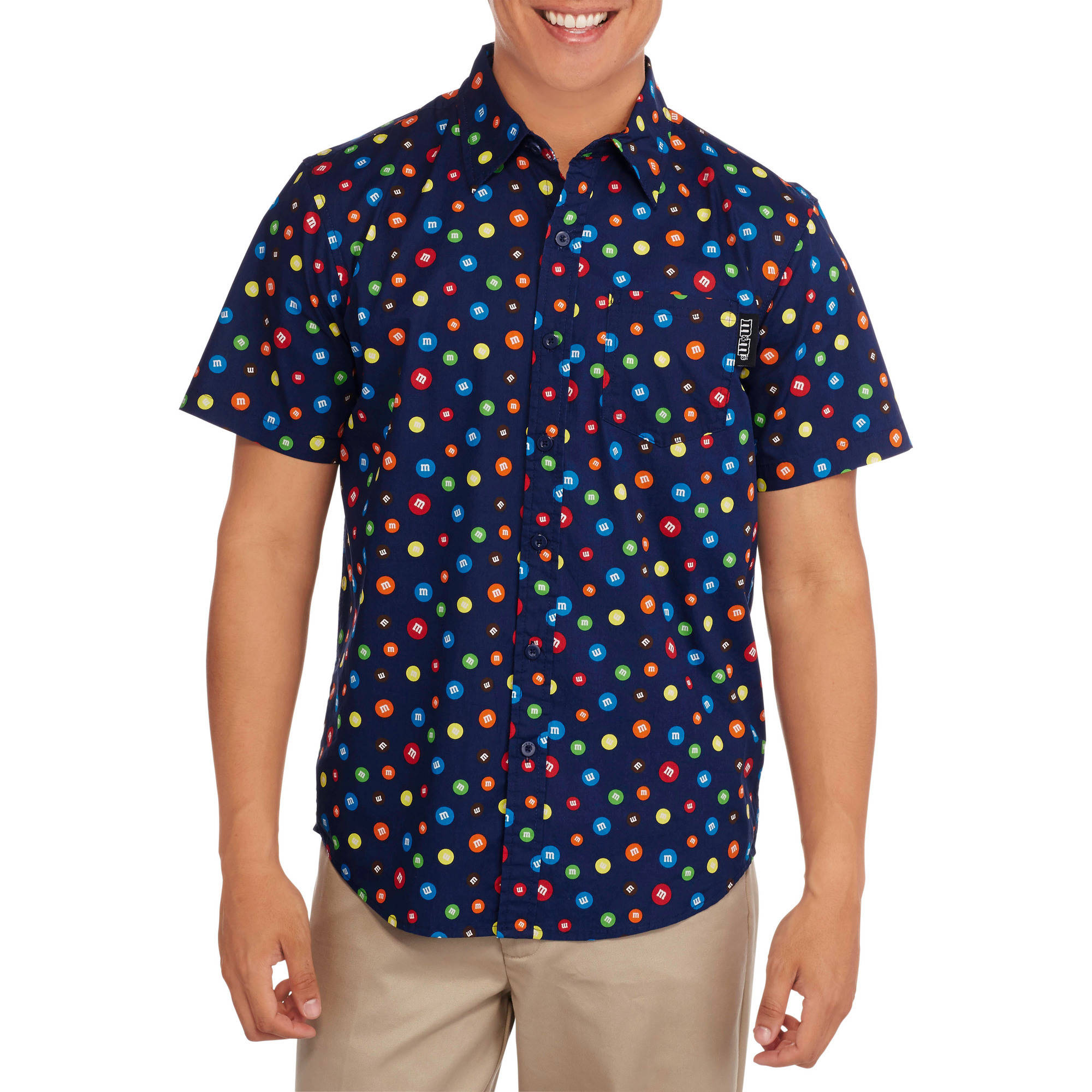 M&M's Big Men's Short Sleeve Woven Shirt