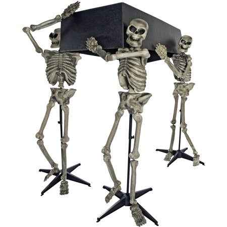 Skeleton Pall Bearers with Coffin Halloween Decoration](Halloween Outdoor Decorations)