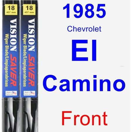 - 1985 Chevrolet El Camino Wiper Blade Set/Kit (Front) (2 Blades) - Vision Saver