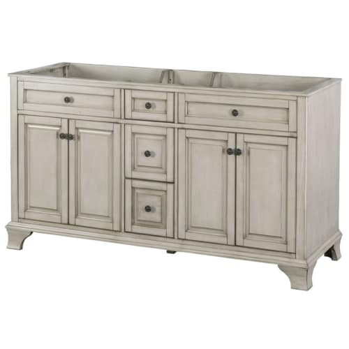 Foremost CNA6022D Corsicana 62  Double Free Standing Wood Vanity Cabinet Only - Less Vanity Top  sc 1 st  Walmart & Foremost CNA6022D Corsicana 62