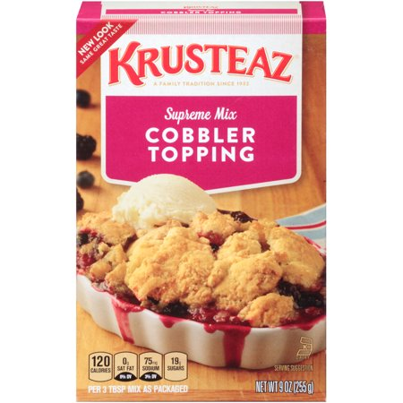 (4 Pack) Krusteaz Cobbler Topping Supreme Mix, 9oz -