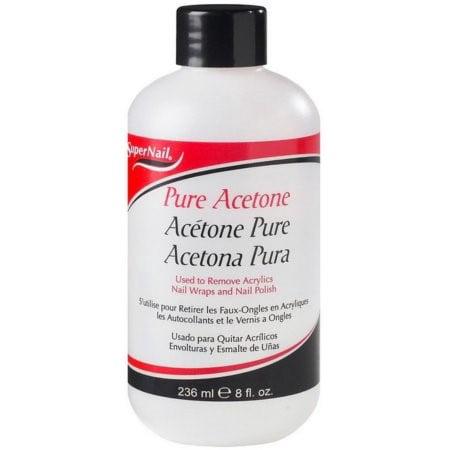 Care Nail Polish Remover - Super Nail Pure Acetone Polish Remover, 8 oz