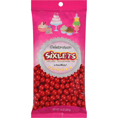 Celebration by SweetWorks  Sixlets  Chocolate Flavored Red Candy, 14 oz](Signets Halloween)