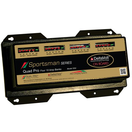 Duel Pro Sportsmans Series 4Bank Charger 10Amp/Bank (Difference Between Power Pole Pro And Sportsman)
