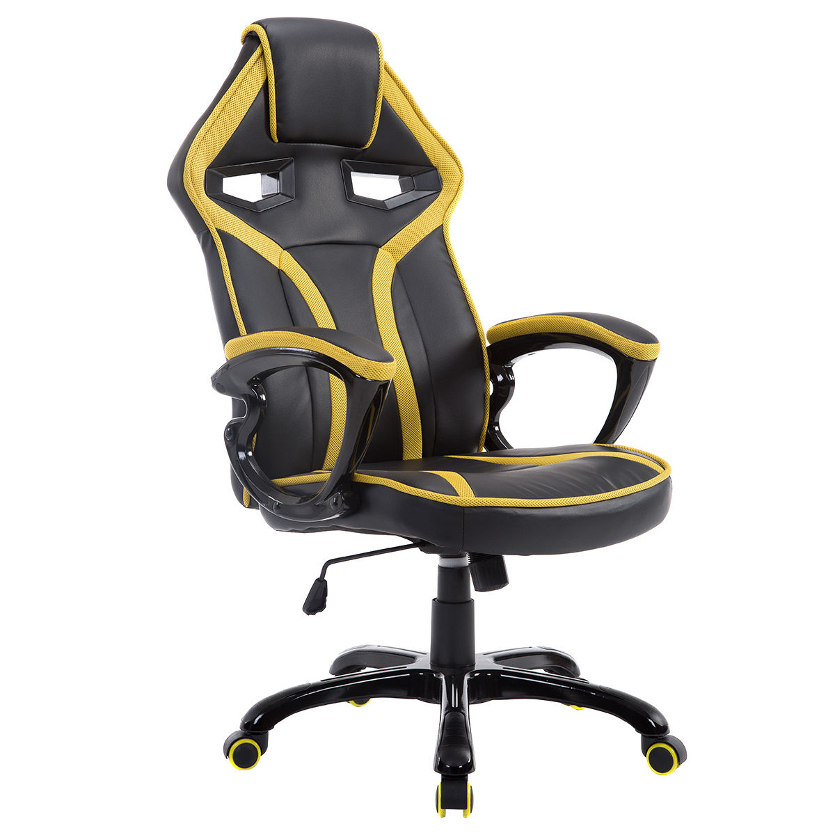 Costway Race Car Style Bucket Seat Office Chair High Back Racing Gaming Chair Desk Task