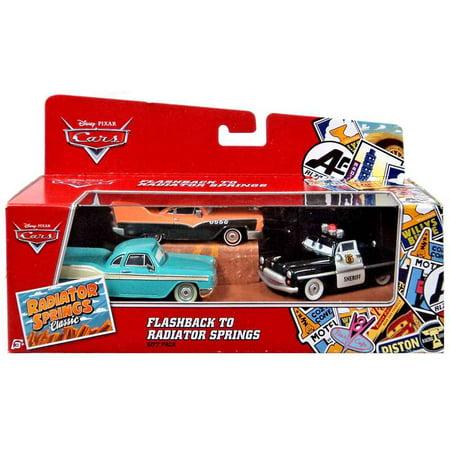 Flashback to Radiator Springs Diecast Car 3-Pack Disney Cars - Disney Pixar Cars Hank Halloween Murphy