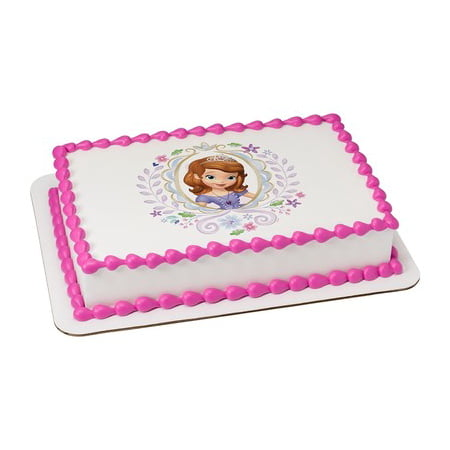 Sofia The First Cake Ideas (Sofia the First Springtime in Enchancia Edible Icing Image Cake/Cupcake Party Topper for 6 inch Round)