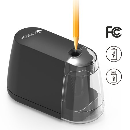 Electric Pencil Sharpener, Auto-Stop Feature and Best Heavy Duty Helical Blade Sharpeners for Office School Classroom Kids