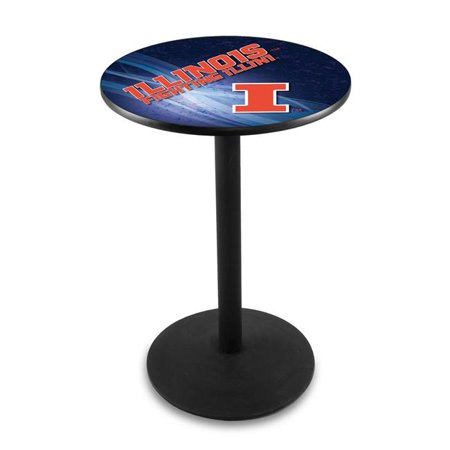 Holland Bar Stool L214B4236IlliniU 42 in. Illinois Fighting Illini Pub Table with 36 in. Top - image 1 de 1