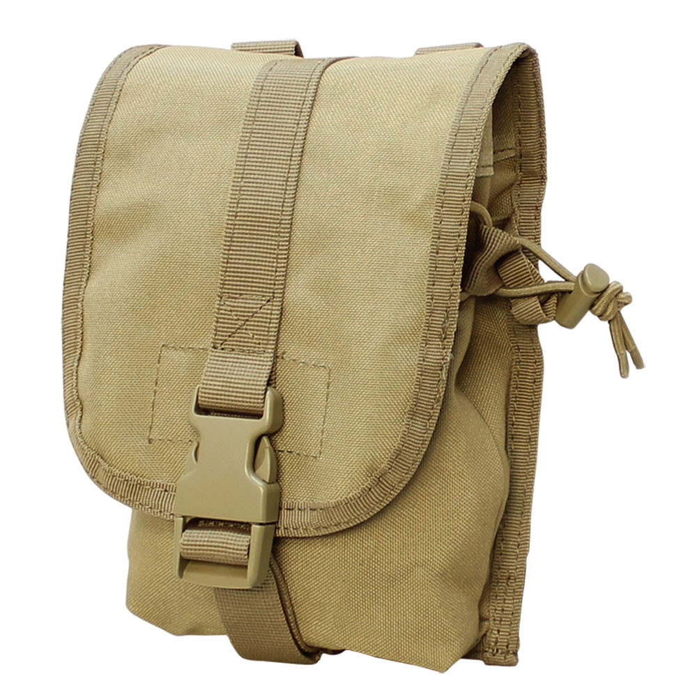 TAN Molle PALS Tactical Small Utility Pouch Storage Tool Nylon Pouches