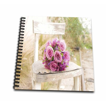 3dRose Shabby Chic Image With Country Chair n Pink Roses.jpg - Mini Notepad, 4 by - Shabby Chic Scrapbook Paper