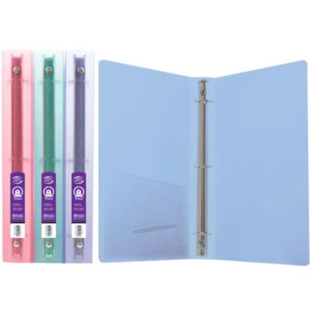 Bazic 1  Glitter Poly 3 Ring Binder With Pocket Pack Of 48