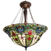 "CHLOE Lighting Tiffany-style 3 Light Victorian Inverted Hanging Pendant Fixture 22"" Shade"
