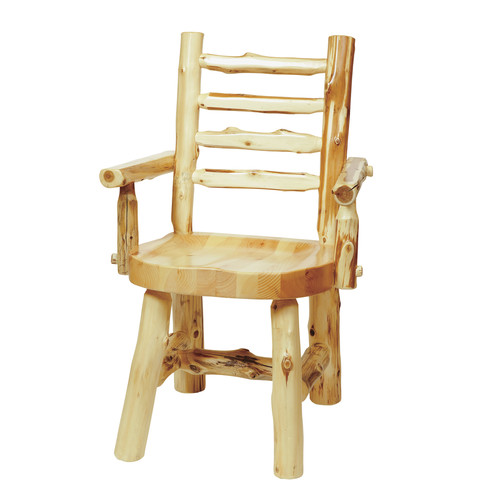 Fireside Lodge Traditional Cedar Log Arm Chair
