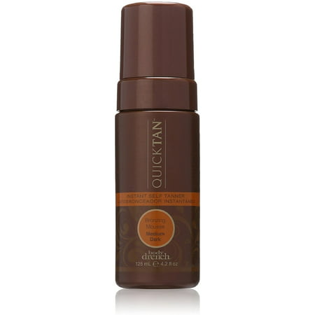Body Drench Quick Tan Instant Self Tanner Bronzing Mousse, Medium/Dark 4.20