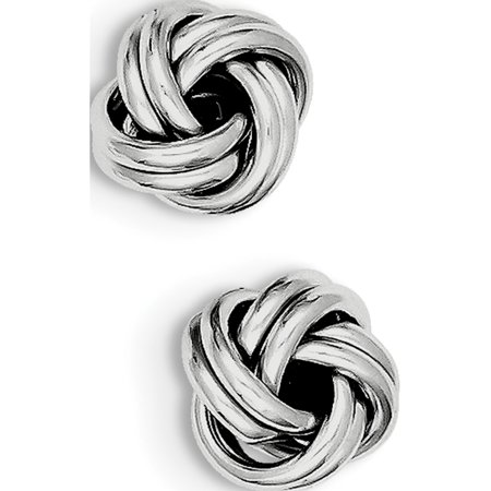 925 Sterling Silver Love Knot (11x12mm) (Dragon Knot Earrings)