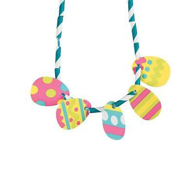 IN-13722775 Easter Egg Straw Necklace Craft Kit