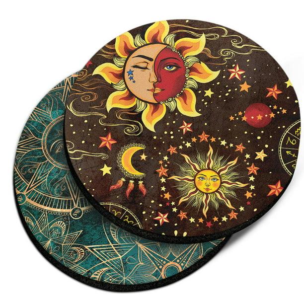 Sun/&Moon candle coasters