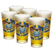 US Air Force 16 oz. Pint Glass Double Flag Air Force Eagle (Case of 24) by Erazor Bits