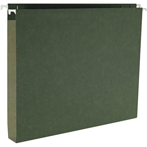 "Smead 1"" Capacity Box Bottom Hanging File Folders, Letter, Green, 25/Box"