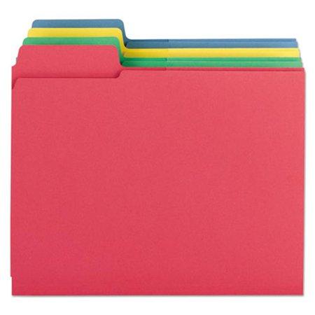 Smead Top Tab Folder (Smead Manufacturing 11905 3-in-1 SuperTab Section Folders, 0.3 Cut Top Tab)