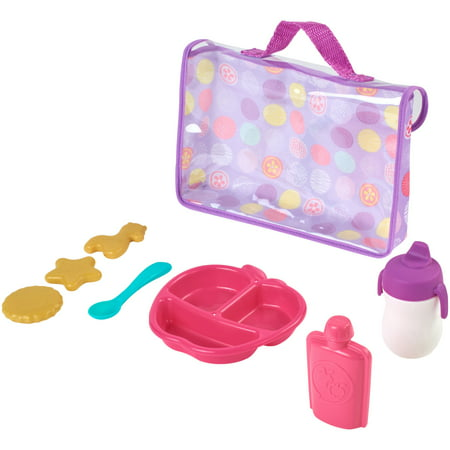 My sweet love 8-piece doll feeding set, pink & purple, designed for ages 2 and up (Two Doll Set)