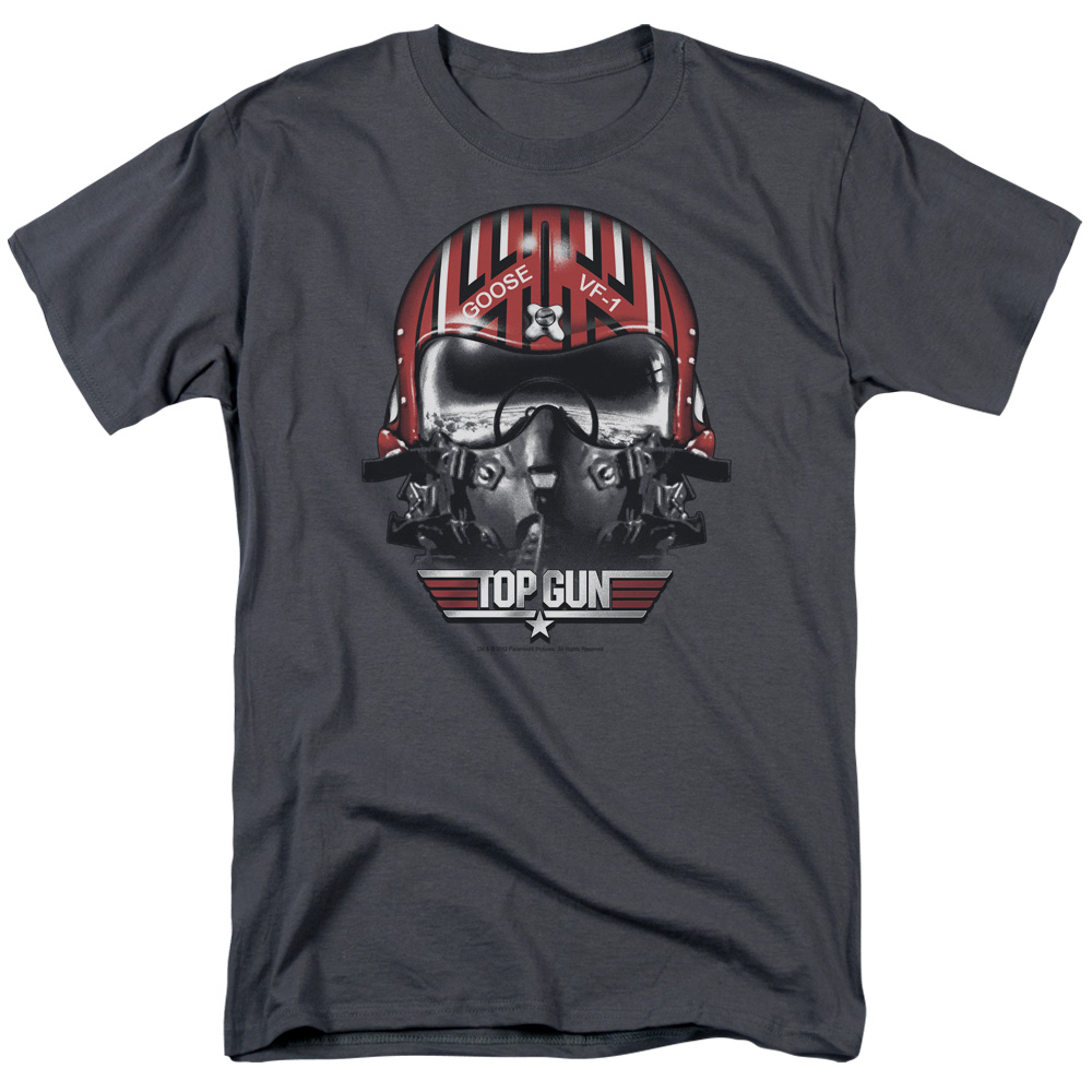 Top Gun Goose Helmet Mens Short Sleeve Shirt