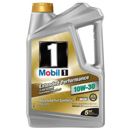 (3 Pack) Mobil 1 Extended Performance 10W-30 Full Synthetic Motor Oil, 5 qt