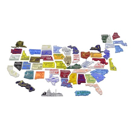 All 50 State Magnets Plus DC and Puerto Rico Complete Set