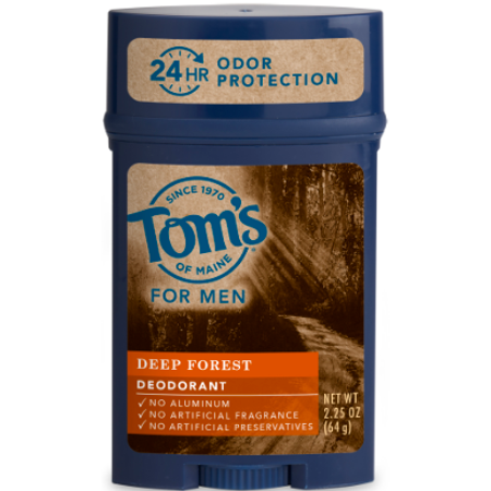 Tom's of Maine Long-Lasting Aluminum-Free Deep Forest Natural Men's Stick Deodorant, 2.25