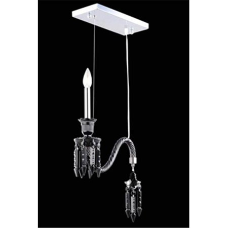 8901D14B-JT-EC 14 Dia. x 18 H in. Majestic Collection Hanging Fixture - Black Finish, Elegant -