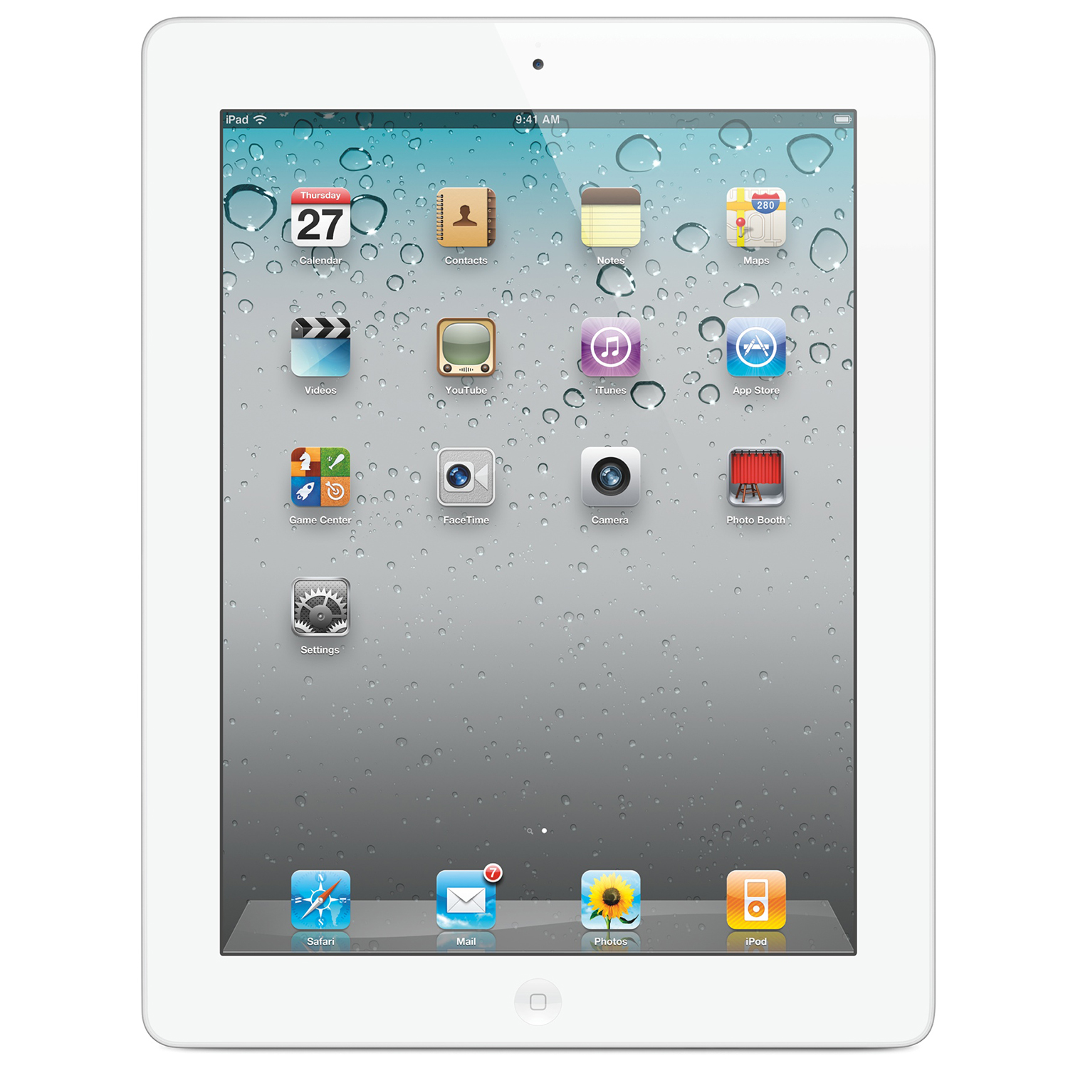 "Refurbished Apple iPad 2 32GB 9.7"" Touchscreen Bluetooth Wi-Fi Dual Cameras iOS Tablet - White"
