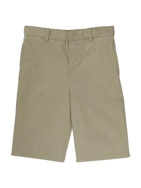 French Toast Boys 4-20 School Uniform Adjustable Waist Twill Flat Front Shorts