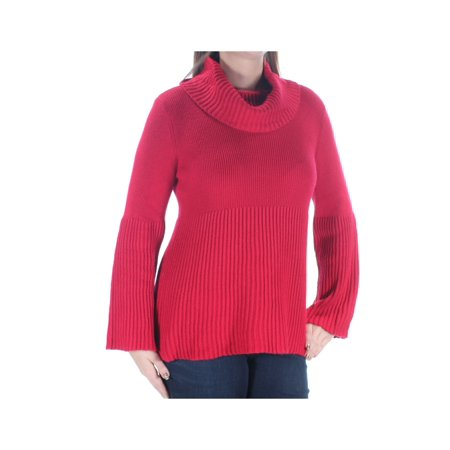 STYLE & COMPANY Womens Red Kimono Sleeve Cowl Neck Sweater Petites  Size: L