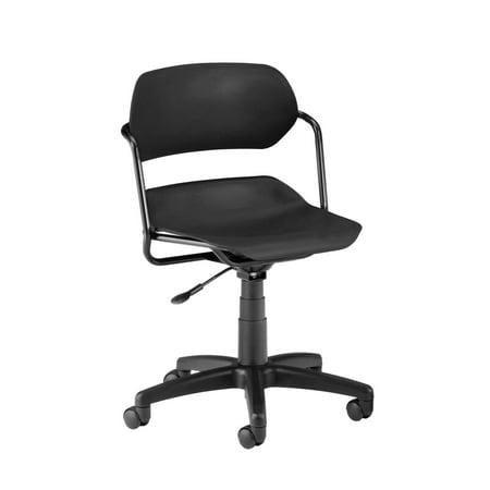 OFM Martisa Series Model 200 Swivel Task Chair with Black Frame, Plastic, Mid Back, Black