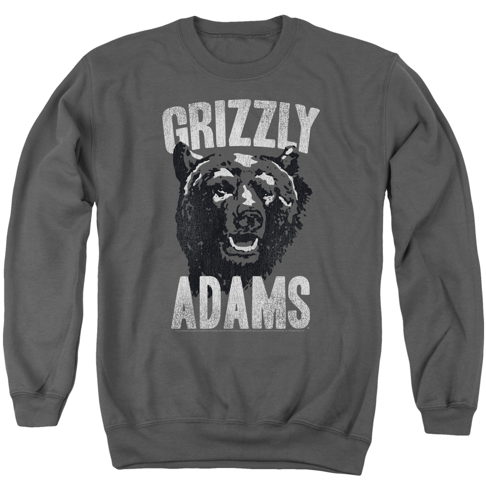 Grizzly Adams Retro Bear Mens Crewneck Sweatshirt