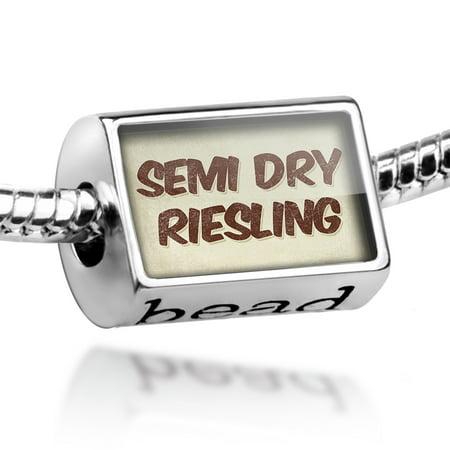 - Bead Semi Dry Riesling Wine, Vintage style Charm Fits All European Bracelets