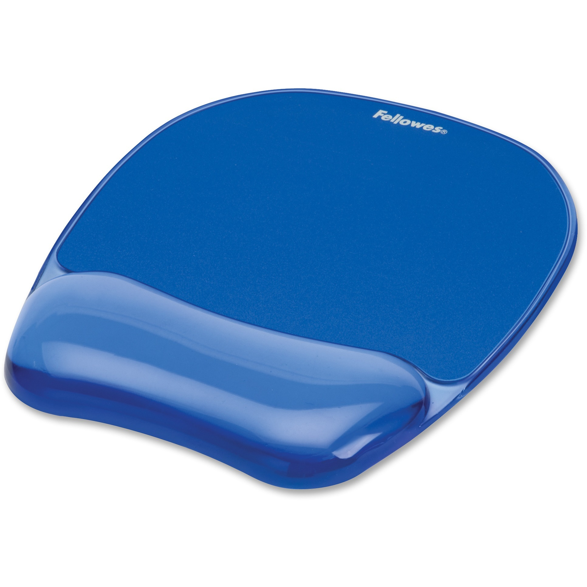 Fellowes, FEL91141, Gel Mousepad/Wrist Rest - Crystals, Blue, 1, Blue